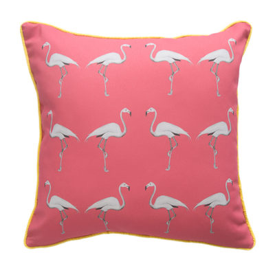 Miami Pink Flamingo Cushion